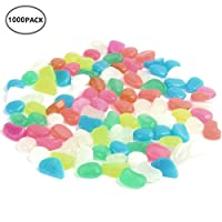 1000 Pack Glow in the Dark Stones Glow Pebbles for Walkways & Decor, Luminous Stones for Plants Pot, Fish Tank