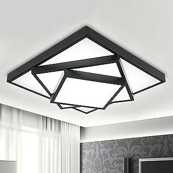 Lampe De Plafond Led Lampe De Salon Rectangulaire Décoration