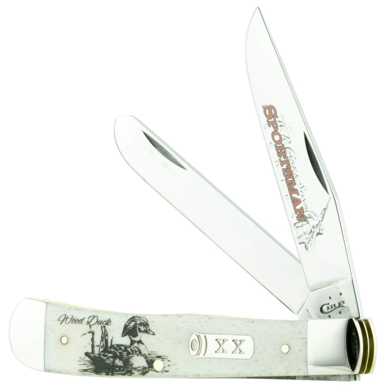 Case Wood Duck Embellished Trapper Pocket Knife