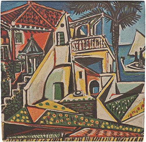 RNK Shops Mediterranean Landscape by Pablo Picasso Ceramic Tile Hot Pad ()