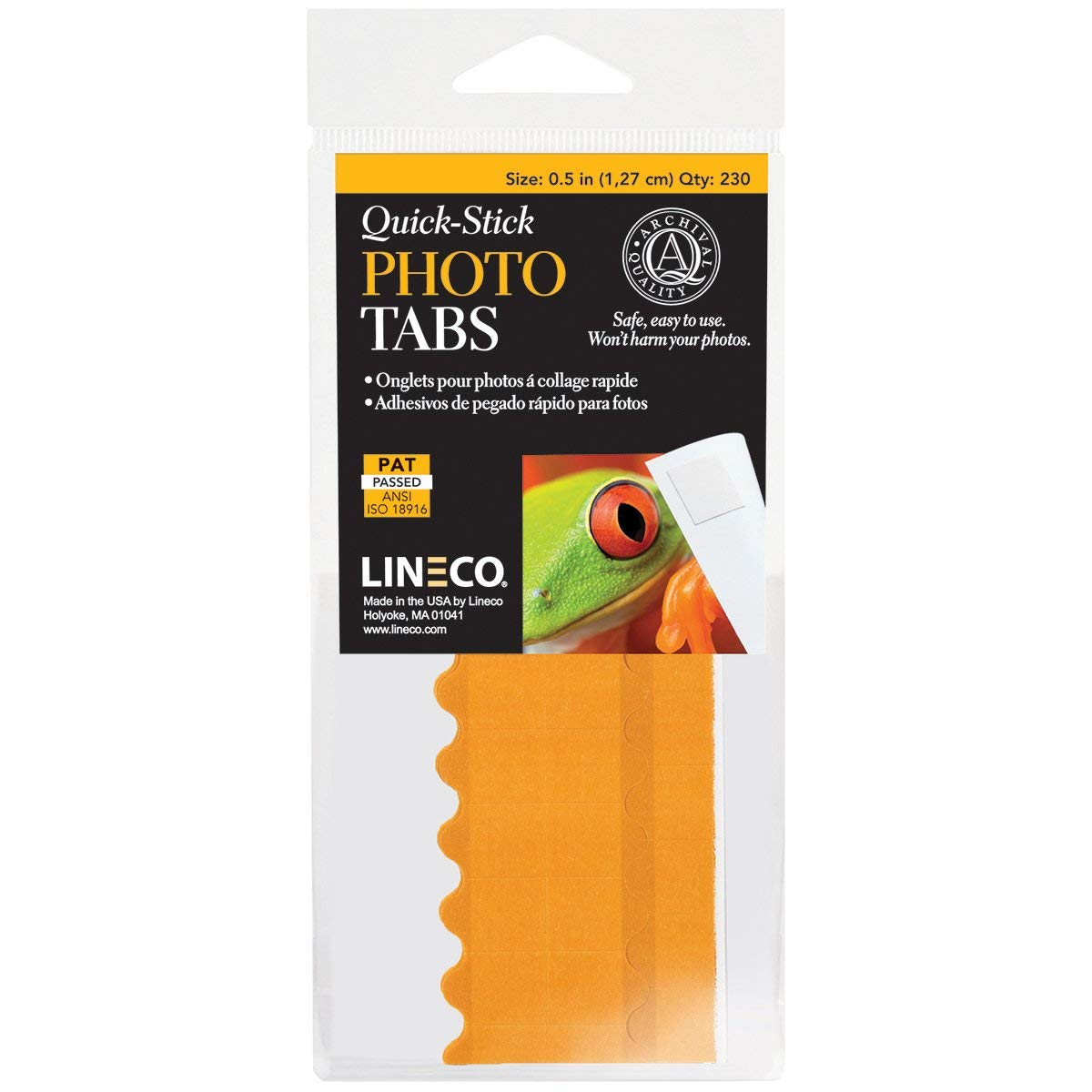 Lineco Infinity Square Photo Mounting Tabs, 0.5 inches, White, Package of 230 (533-0031M)