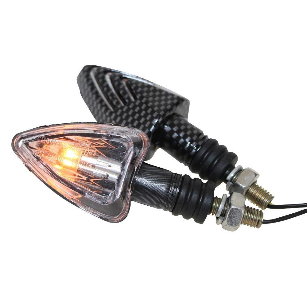 M8 Gewinde Mini Blinker Lennon Carbon Look klar E-gepr/üft