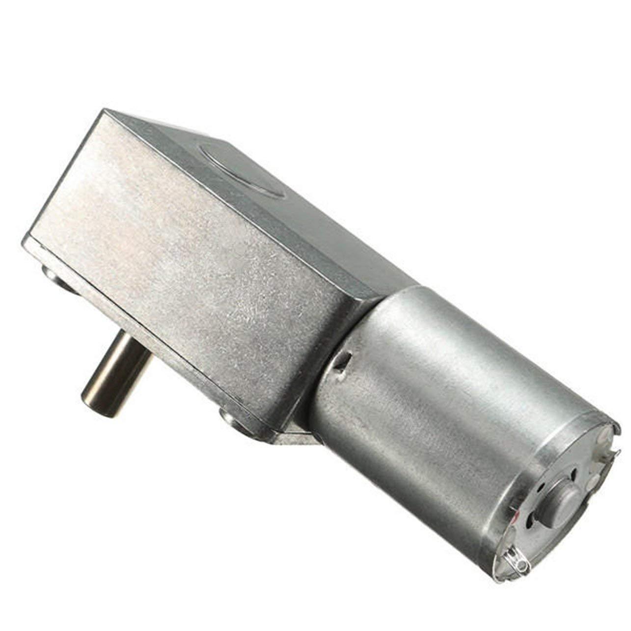 WOSOSYEYO DC 12V 0.6rpm Reversible High Torque Turbo Worm Gear Motor GW370 DC Reductor Motor