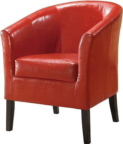 Linon Home Decor Simon Club Chair, Red