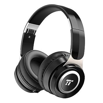 TaoTronics Auriculares Bluetooth Diadema Plegables (Bluetooth 4.1, 20 Horas de fucionamiento, Micrófono, 40 mm Drivers con Bajos Potentes, ...
