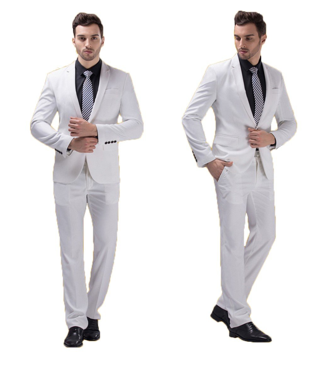 Love Dress Wedding Suits for Groom Tuxedos for Men Jacket Pant White XL