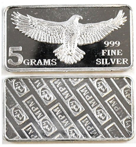 Eagle Monarch 5 Gram .999 Silver Bar for sale  Delivered anywhere in Canada