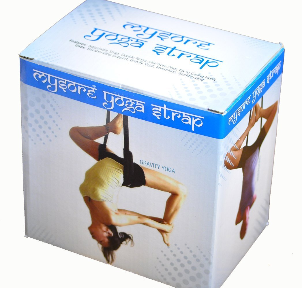 Mysore Yoga Strap with 2 Everlast Wood Beam Hangers by Mysore Yoga Accessories / Everlast