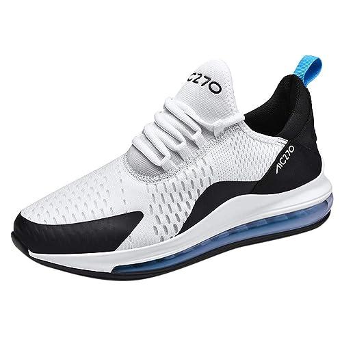 Sportschuhe Herren Damen Laufschuhe Luftkissen Bequem Mesh Straßenlaufschuhe Walkingschuhe Outdoor Leichtes Sneaker Gym Fitness Turnschuhe Schnürer