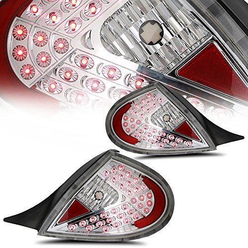 ECCPP Taillight Assembly Conversion Kit Fit For DODGE NEON 2000 2001 2002 Chrome Housing With Clear Lens-Plug And Play ()