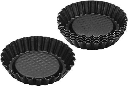 Zenker 6531 Lot De 6 Moules à Tartelettes Mini Moule à Tarte 6 Moules Pour Tartelettes Renversées Mini Moules Acier Inoxydable Noir 10 Cm Amazon Fr Cuisine Maison