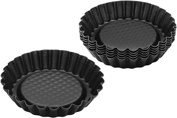 Metal RBV Birkmann Baking pan Tart tin-Ribbed /Ø 10 cm 10 x 10 x 3 cm Grey//Black