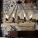 PinWei_ Industrial style chandelier&Dining room chandelier & Bar Chandelier Iron rope pendant , 8 head