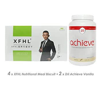 eef43acd8d Amazon.com  (4) XFHL Nutritional Meal Biscuit Lose Weight Once