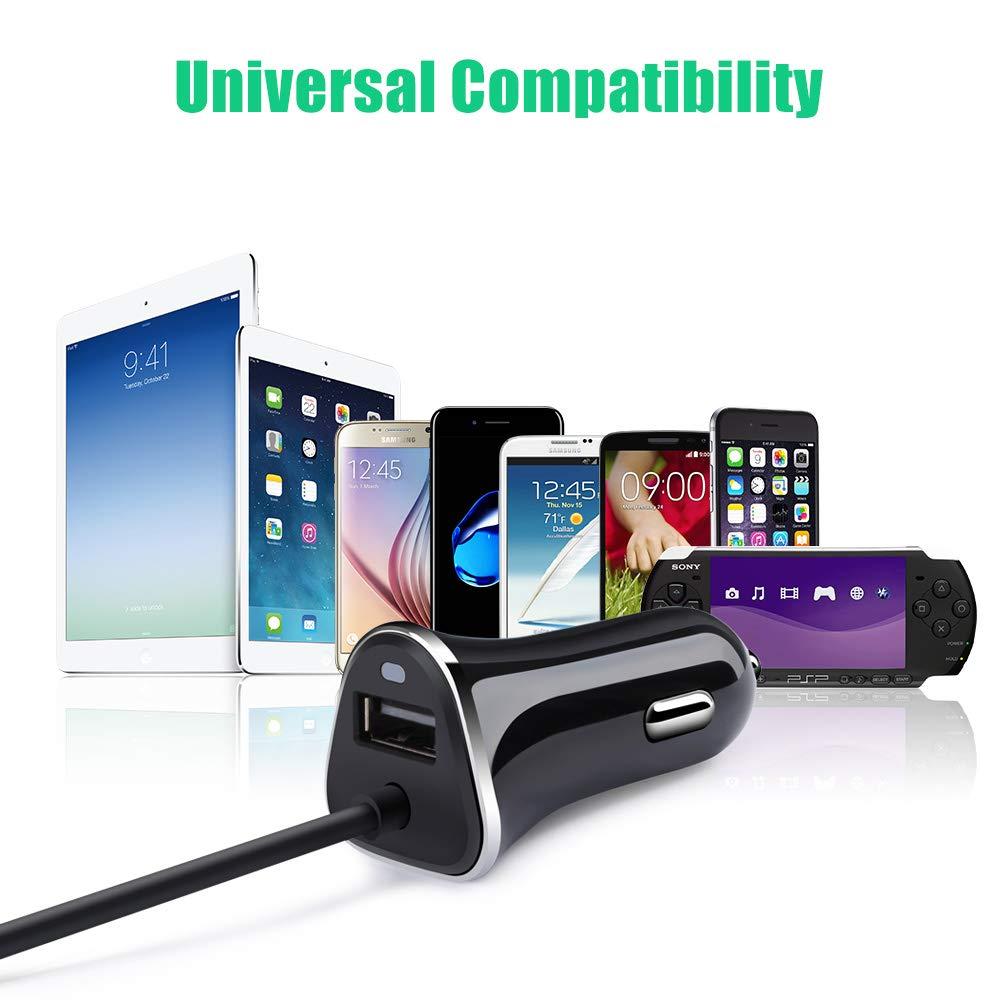 Amazon.com: Cargador de coche dual USB, adaptador de ...