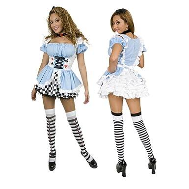97d8eacc3 Amazon.com  Sexy Halloween Costumes Alice in Wonderland Costume ...