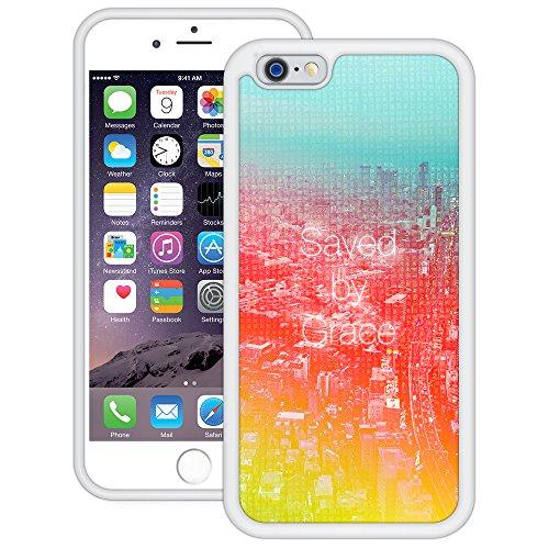 Durch Gnade gerettet | Christlich | Handgefertigt | iPhone 6 6s (4,7') | Weiß TPU Hülle