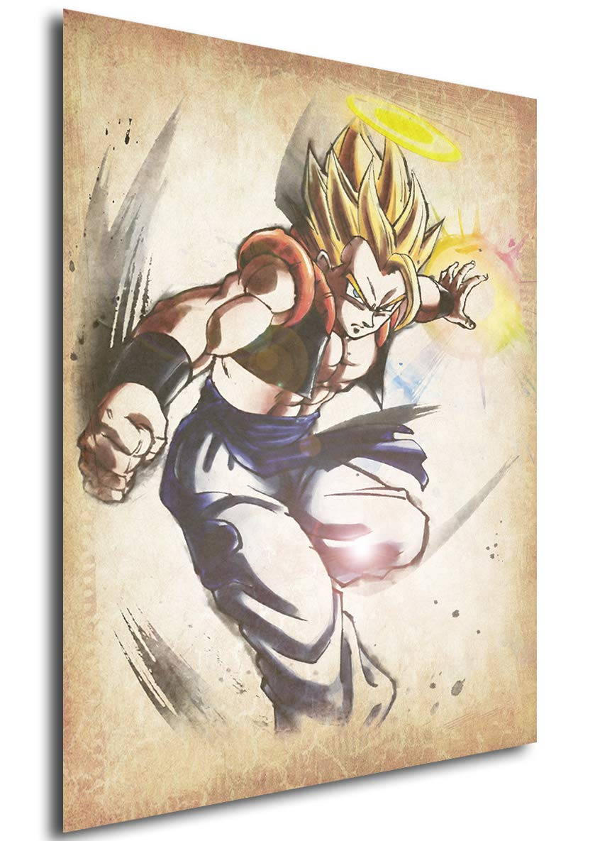 Instabuy Poster Dragon Ball Wanted Gogeta SSJ Variant - Formato A3 (42x30 cm) Easy Exp & Imp Limited