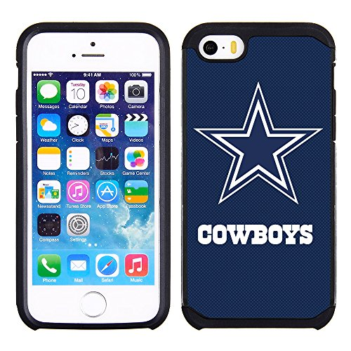 extured Case with Team Color Design for Apple iPhone SE / 5s / 5 - NFL Licensed Dallas Cowboys ()
