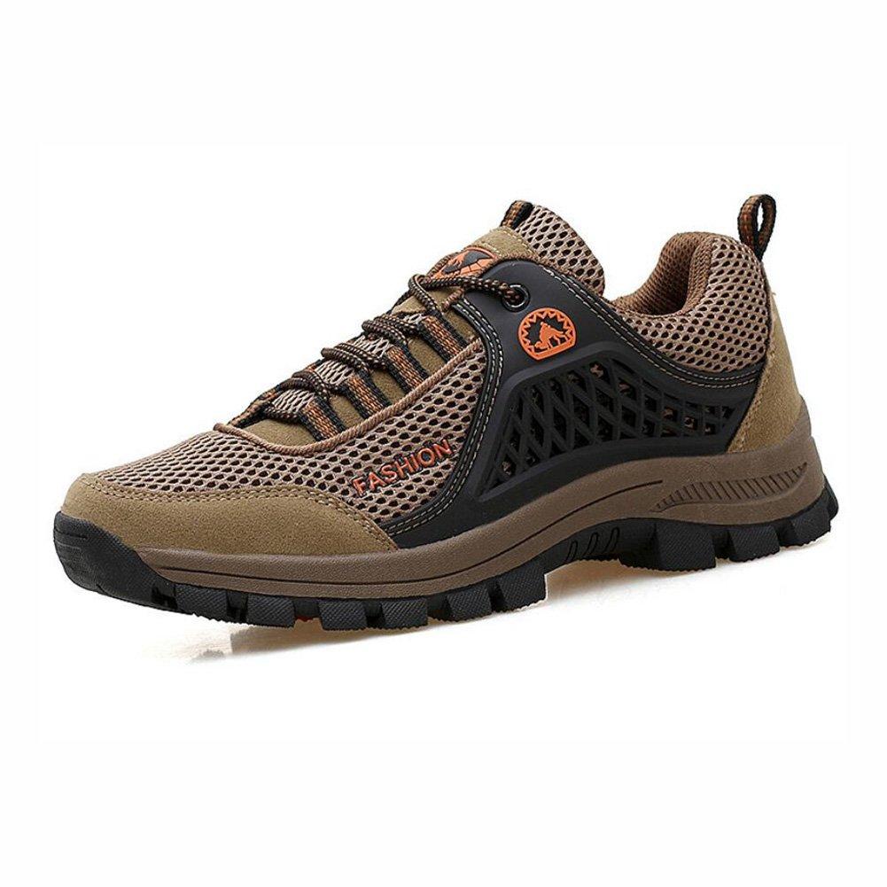 YaXuan Zapatos de Senderismo al Aire Libre, Zapatos de Escalada, Zapatillas de Deporte de Cordones de la Montaña, Ideal para Deportes Caminar de Caza atlético Adecuado para Hombres Toda la Temporada 39|UN
