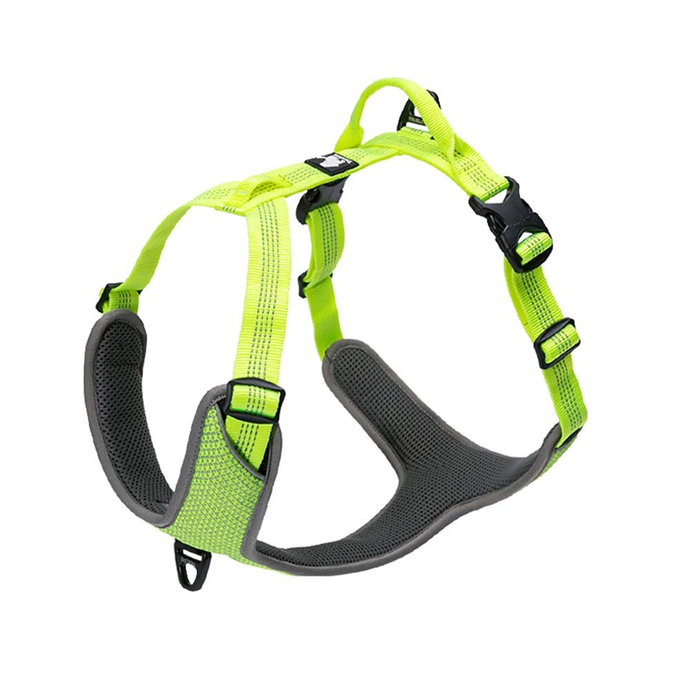 GREEN L(68-82cm) GREEN L(68-82cm) Dog Vest Harness, Comfortable Breathable Adjustable Pet Chest Strap Traction Rope Chain Hyena for Small Medium Large golden Retriever Safety Harness (color   Green, Size   L(68-82cm))