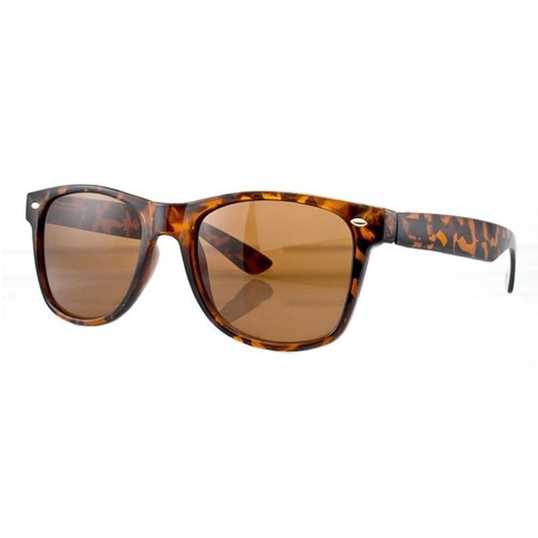 NEW UNISEX (Damen Herren) WAYFARER brauner Leoparder Sonnenbrille Clubmaster Brille SUNGLASSES Shades UV400 Protection Morefaz(TM)
