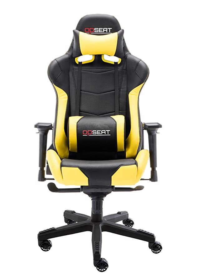 Amazon.com  OPSEAT Master Series PC Gaming Chair Racing Seat Computer  Gaming Desk Office Chair - Yellow  Kitchen   Dining 0250f6a2ae1c9