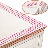 BABY MATE New Generation Baby Proofing Table Edge Protectors Table Corner Guards (20' Feet/6M Edges & Tapes + 4 Corners, POLKA DOTS) - Childproofing Products - Desk Edge Cushion Foam - Roving Bumpers