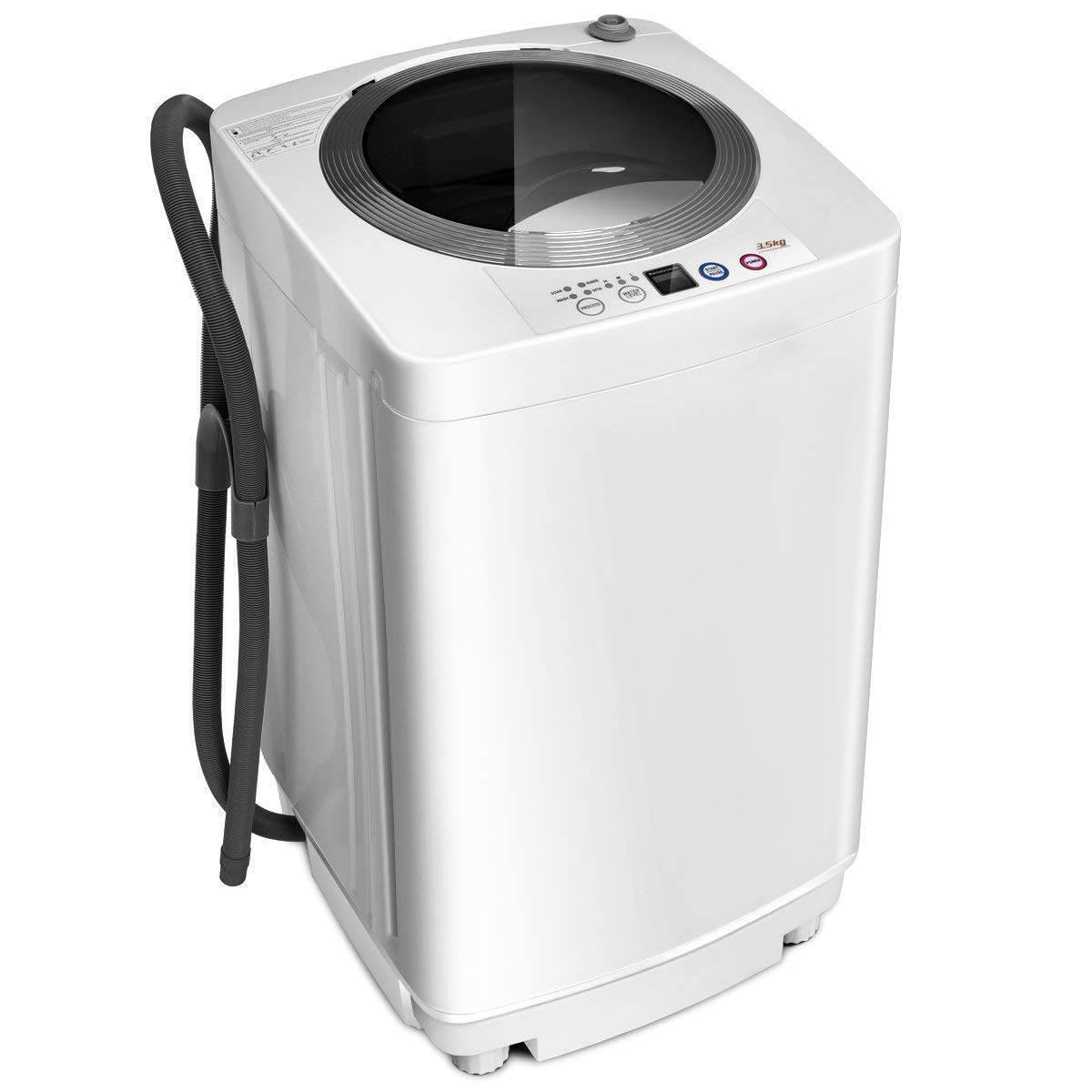 Giantex Portable Compact Full-Automatic Laundry 8 lbs Load Capacity Washing Machine Washer/Spinner W/Drain Pump by Giantex