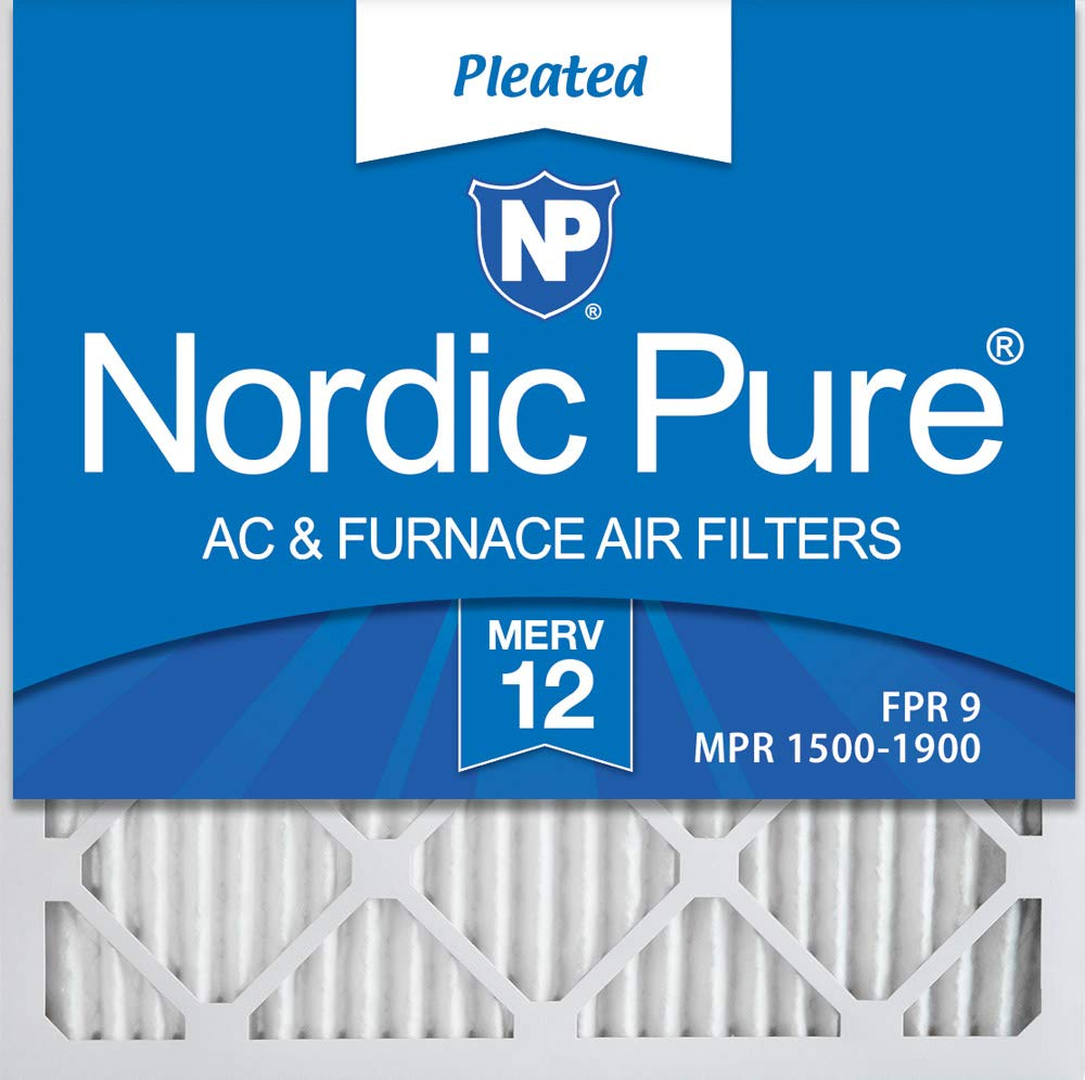 Nordic Pure 24/_3//4x24/_3//4x1 MERV 12 Pleated AC Furnace Air Filters 3 Pack
