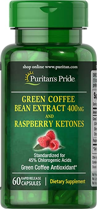 green coffee bean pills and raspberry ketone