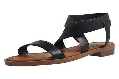 Fitters Footwear Jill - Damen Sandalen - Schwarz Schuhe in Übergrößen, Größe:42