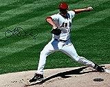 Joe Saunders Signed 8X10 Photo Autograph Anaheim Angels Daytime Blue Auto UDA