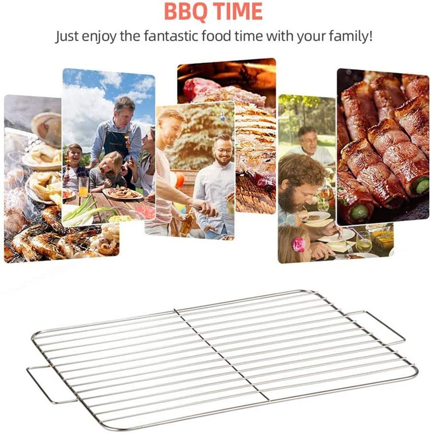 TUANTALL Grille Barbecue Ronde Grille De Barbecue Barbecue Grill Tapis Barbecue Rack Barbecue Grill Maille Tapis Barbecue Griller Tapis Barbecue Grill Rack S M