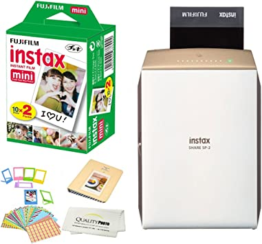 Share SP-2 Portable Smart Phone Photo Printer w/Instax Photo Paper Film Pack + Accessory Kit Bundle - Instantly Print Pictures from iPhone or Any ...