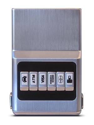 ACM RFID Customizable Wallet Silver Unisex 6 Card Organizer Synthetic