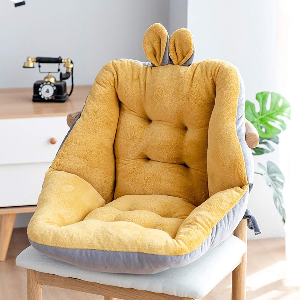 Pink Office Car Comfort Coccyx Cushion Winter Conjoined Plush Cushion Warm Sherpa Wool Seat Cushion Pad Semi-Enclosed One Seat Cushion Non-Slip Thickened Seat Cushion for Home