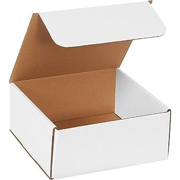 Amazon.com: 50 – 9 x 9 x 4, color blanco Mailer caja de ...