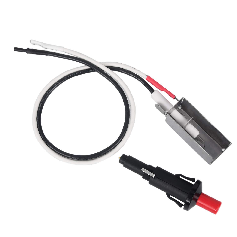 GasSaf Grill Igniter Kit Replacement for Weber Spirit E-210, Genesis E310/E320, Spirit 500/700, Gensis Silver B/C, Genesis Gold B/C, Platinum B/C, snap-in Style Push-Button igniter