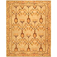Safavieh Anatolia Collection AN542B Handmade Traditional Oriental Ivory and Gold Wool Area Rug (8 x 10)