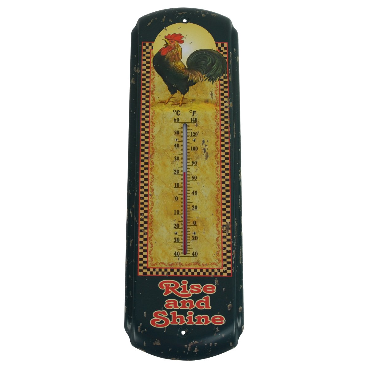 Rise & Shine Rooster Indoor/Outdoor Thermometer Chicken Farm Patio ...