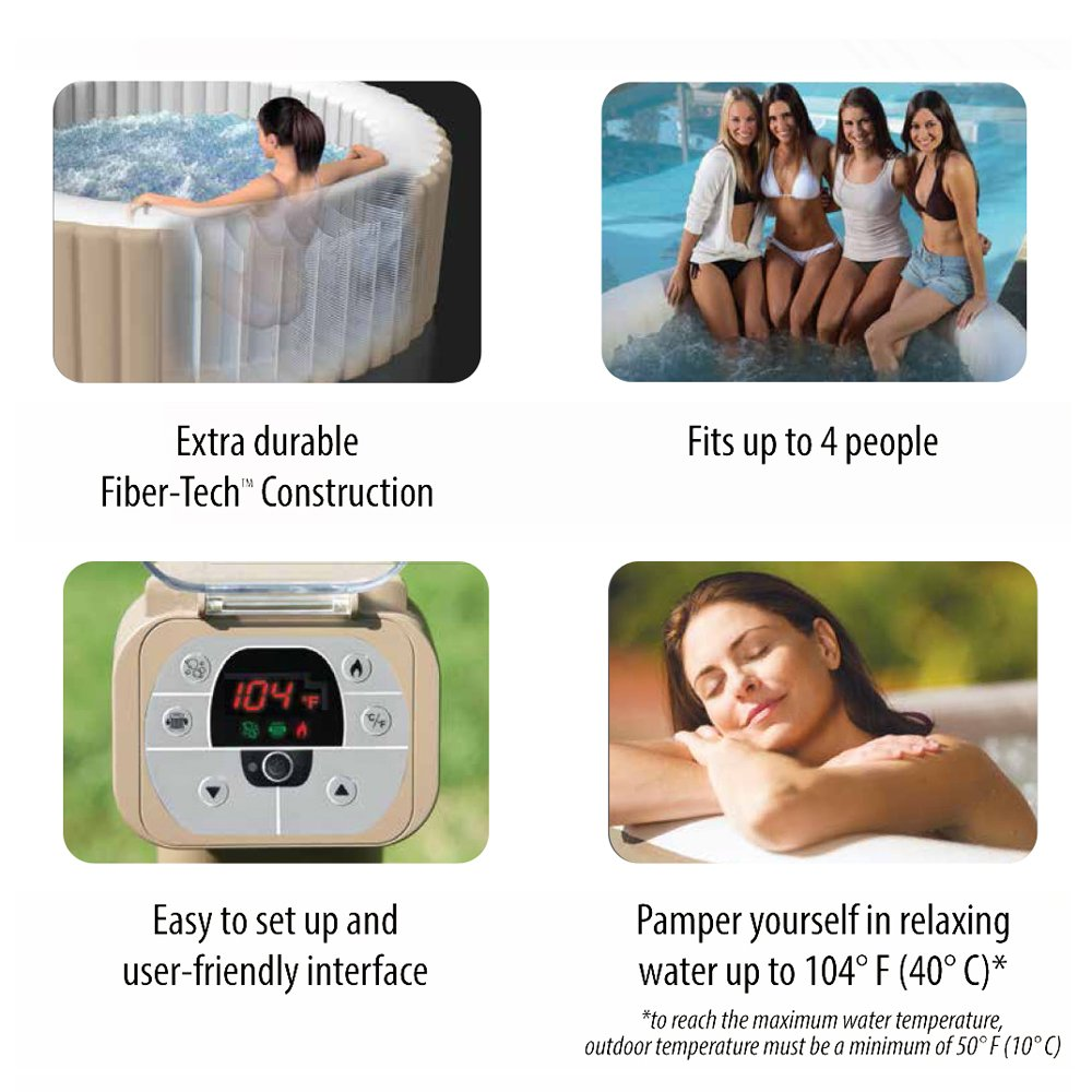 Intex 77in PureSpa Portable Bubble Massage Spa Set Feature