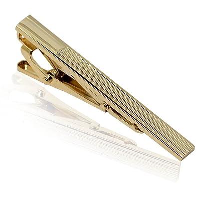 tumundo 1 Alfiler de Corbata de Hombre Color Oro Acero Tie Clip ...