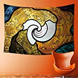 SOCOMIMI Wall Tapestry Home Decor Pop Art Style Funky Unusual Stained Glass Window Thai Art Pattern Traditional Image Tapestries for dorms