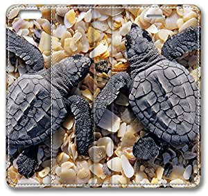 Baby Turtles iPhone 6 Plus Wallet Case, Apple iPhone 6 Plus (5.5