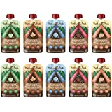 Munk Pack Oatmeal Fruit Squeeze Snack | Variety Pack, Ready-to-Eat Oatmeal On The Go, 4.2 oz, 10 Pack
