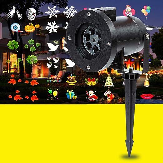 Navidad Proyector Luces Al Aire Libre 12 Patrones De Diapositivas ...