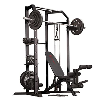 Impex Marcy Olympic Strength Cage System And Multipurpose Utility Slant  Board Bench