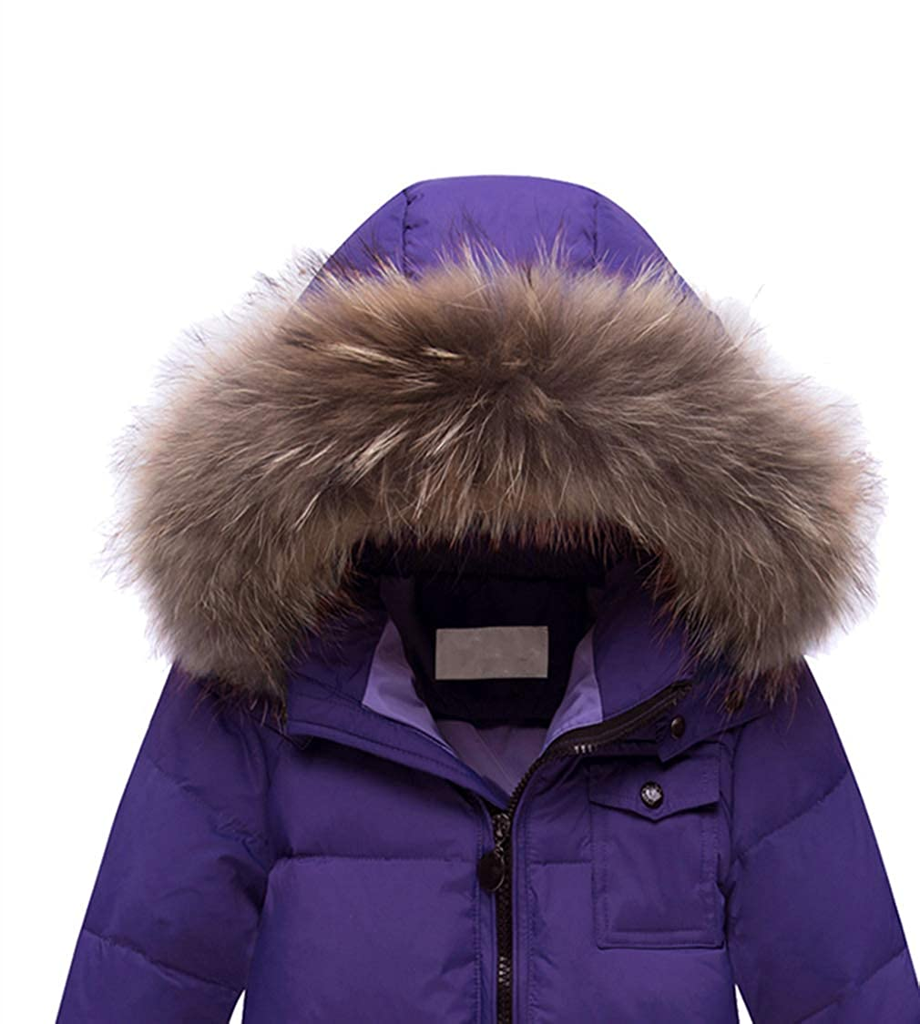 zhbotaolang Infant Jumpsuit Kids Snowsuit-Girl Winter Down Jacket 90-120CM