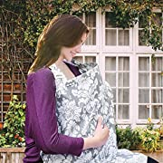 Wsky Nursing Cover - Baby Best Breastfeeding - Infant Feeding Cover - Full Coverage, 100% Breathable Soft Cotton, Stylish and Elegant